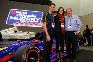 Matt Brabham with Taya Kyle and Brett Murray at PRI Show