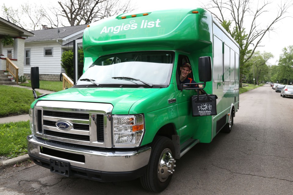 Matt Brabham took to the Angie's List Meals on Wheels truck to Indianapolis today