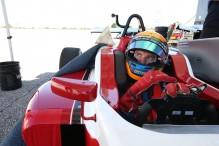 Matt Brabham delivers oval debut for 2017 Mazda Road to Indy chassis