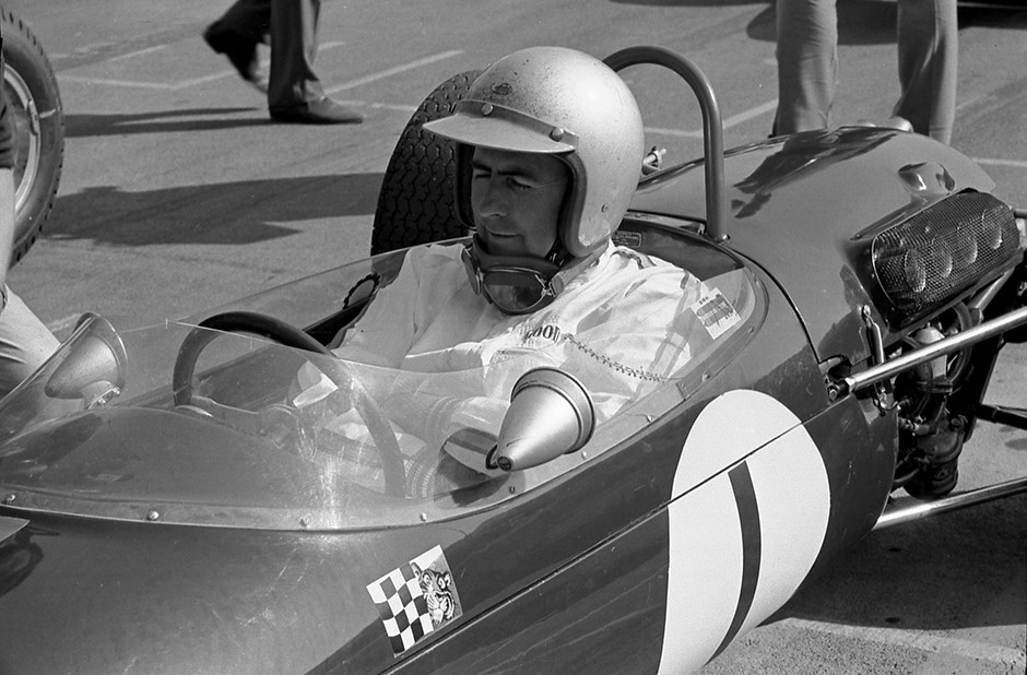 Sir Jack Brabham behind the wheel at Goodwood (PIC: Goodwood.com)